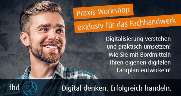 Praxis-Workshop exklusiv für das Fachhandwerk